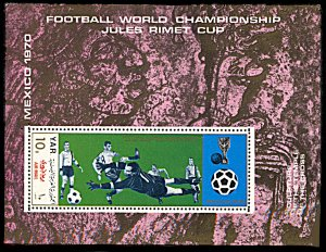 Yemen 277A, MNH, 1970 World Cup Football Mexico, souvenir sheet