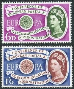 SG621/2 1960 Europa Set U/M