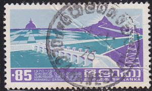 Sri Lanka 499 Used 1976 Mahaveli-Ganga River Diversion CDS