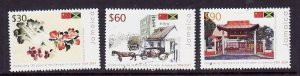 Jamaica-Sc#1010-12-Unused NH set-Chines in Jamaica-2005-