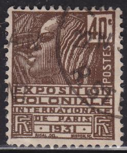 France 259 USED 1930 Fachi Woman 40c