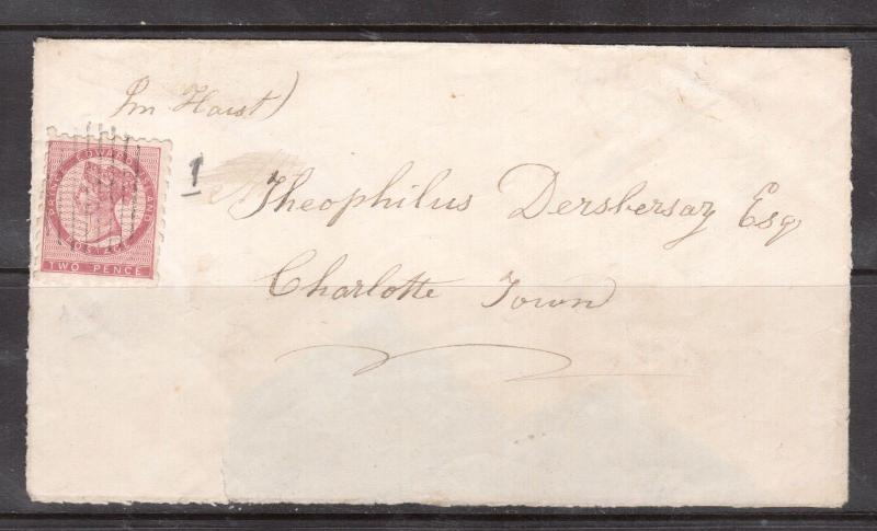 Prince Edward Island #1a Used On Cover To Charlottetown **With Certificate**
