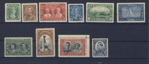 10x Canada Royalty Stamps #211 to #216 #246 to #248 #193 Guide Value = $45.00