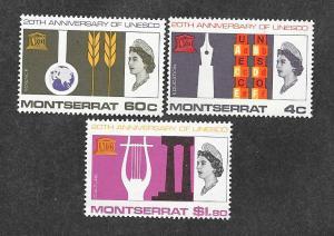 Montserrat 186-188 Mint NH MNH UNESCO!