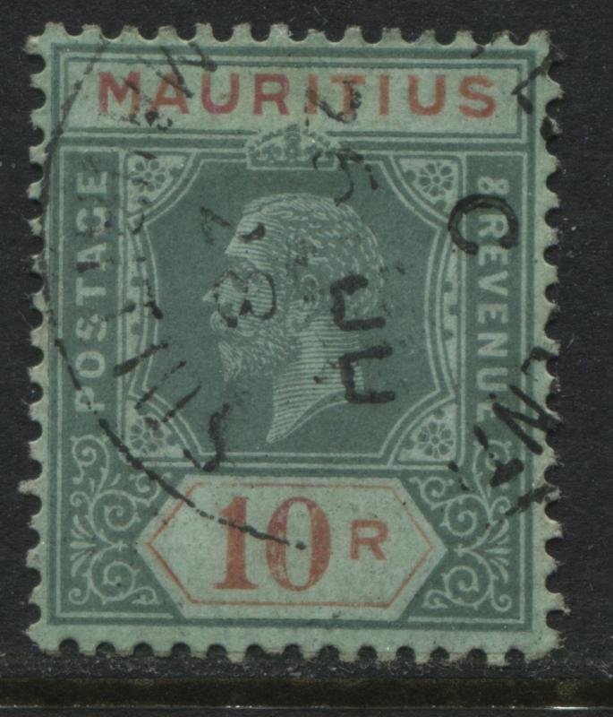 Mauritius 1928 10 rupees CDS used superb