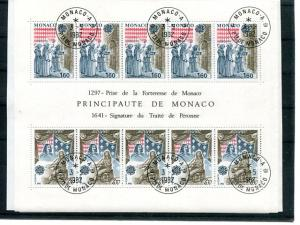 Monaco 1982 Europa mini sheet   Mint VF NH favour cancel