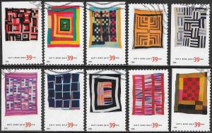 US 4089-4098 Used - American Treasures Series - Gee's Bend Quilts