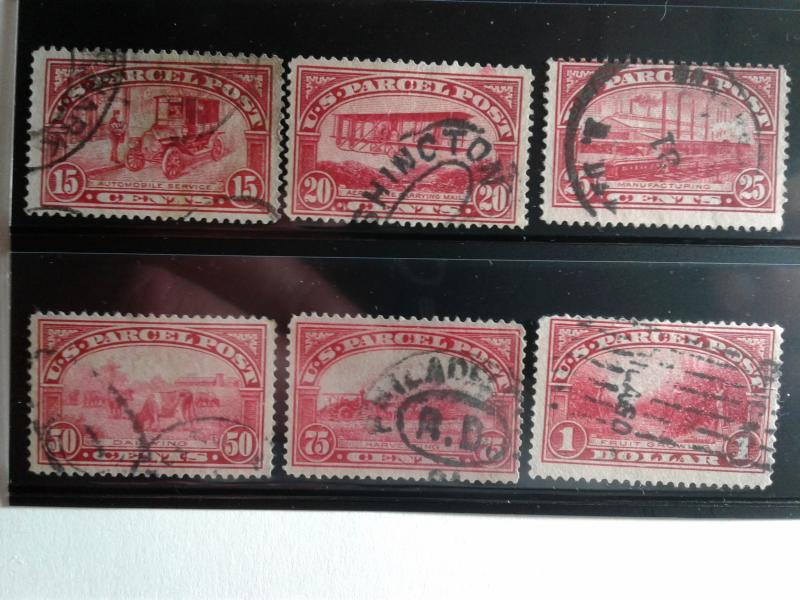 SCOTT # Q1-Q12 USED COMPLETE SET OF PARCEL POST  AMAZING !! ISSUED 1913 !!!