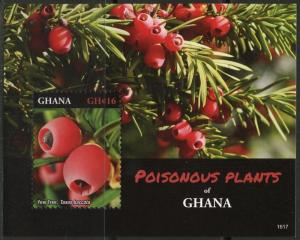GHANA 2016 POISONOUS PLANTS OF GHANA SOUVENIR SHEET MINT NH