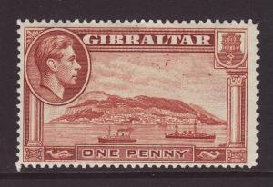 1938 Gibraltar 1d Perf 14 Mint