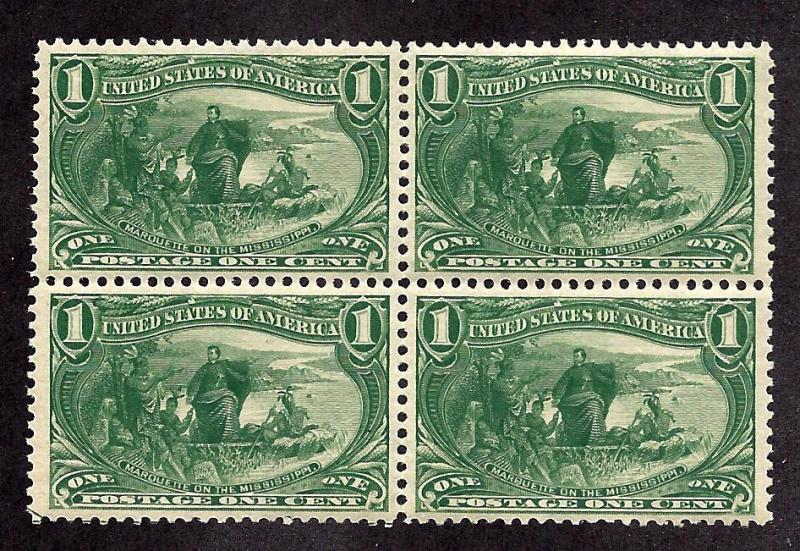 285 Mint,OG,NH... Block of 4... SCV $280.00
