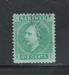 Sarawak 1875 Sir Charles Johnson Brooke 6c Scott # 5 U