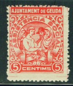 SPAIN Civil War Republic GELIDA Label GG 632