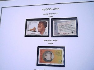 1985  Yugoslavia  MNH  full page auction