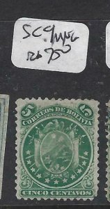 BOLIVIA  (P1606B)    SC 9    MNG