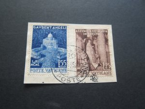 Vatican 1951 Sc 143-44 set FU