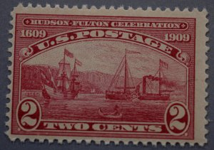 United States #372 Two Cent Hudson Fulton MNH