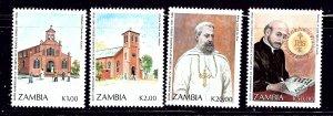 Zambia 553-56 MNH 1991 St Ignatius of Loyola    (ap1093)