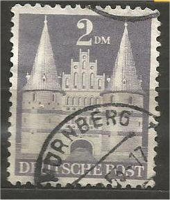 GERMANY, 1951, used 2m violet, Lubeck Scott 659