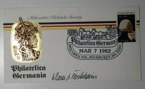 MILCOPEX Philatelica Germania Milwaukee WI 1982 Signed Philatelic Expo Cover