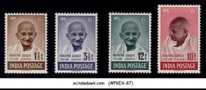 INDIA 1948 1st Anniversary of INDEPENDENCE / MAHATMA GANDHI SG#305-308 4V MH