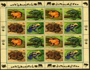 UNITED NATIONS Sc# NY 908-11 GE453-6 VI376-91 2006 Endangered Species Sheets MNH