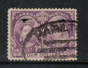 Canada #64 Very Fine Used With Hamilton Oval Cancel **With Certificate**