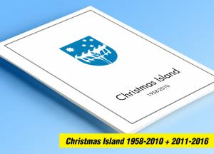 COLOR PRINTED CHRISTMAS ISLAND 1958-2016 STAMP ALBUM PAGES (104 illustr. pages)