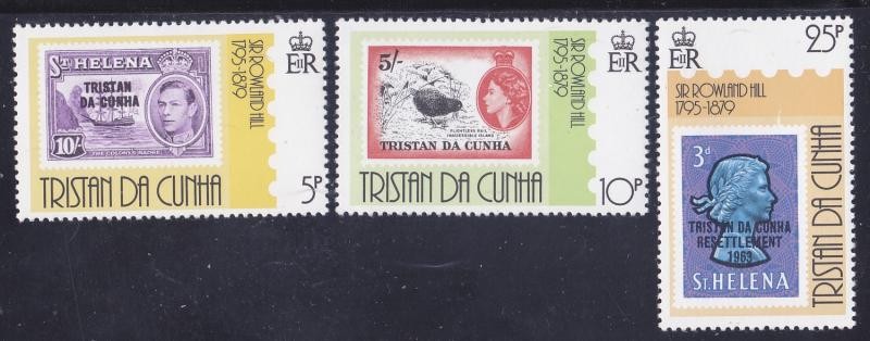Tristain Da Cunha 260-62 MNH 1979 Sir Rowland Hill - Stamp on Stamps