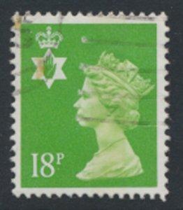 GB  Northern Ireland 18p SG NI47  SC# NIMH34   1 Center band  see scan