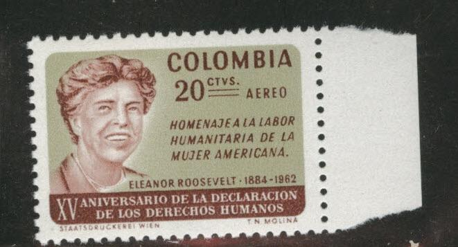 Colombia  Scott C462 MNH** Eleanor Roosevelt airmail stamp