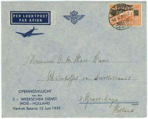 93728 - DUTCH INDIES - POSTAL HISTORY - FIRST Flight COVER  Muller  # 80 1935