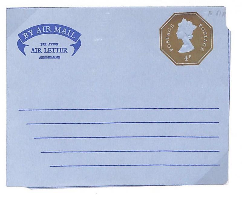 GB QEII Air Letter STO Embossed Postal Stationery 4p Die {samwells-covers}GK83