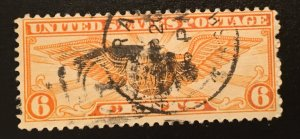 C19 Globe & Wings, 6c, Circulated single, Vic's Stamps Stash