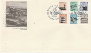 #917-22 Canada First Day Issue cover Abitibi paper