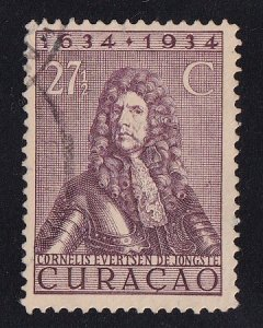 Netherlands Antilles  Curacao  #122  used  1934  anniv founding colony 27 1/2c