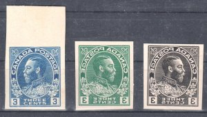 Canada #108 XF Admiral Essay in Color Blue, Green and Black C$1500.00