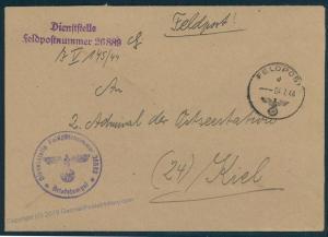 3rd Reich Kriegsmarine Navy Admirality Estonia Baltic Feldpost 47053