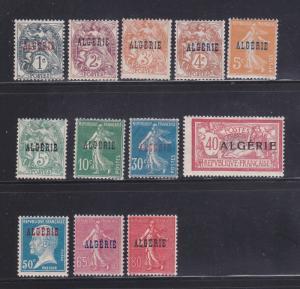 Algeria 1-6, 8, 16, 18, 22, 24, 26 MHR Overprints