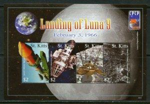 ST. KITTS  LANDING OF LUNA 9  SHEET MINT NH