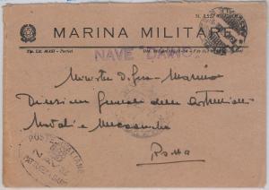 ITALY -  POSTAL HISTORY COVER - Military Marine Ship:  FAUNA Animals DEER Daino