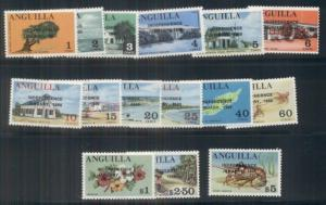 ANGUILLA #53-67 Mint Never Hinged, Scott $17.45