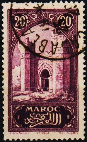 Morocco(French). 1917 20c S.G.129 Fine Used