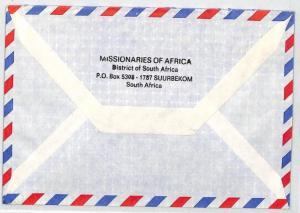 CA130 1989 South Africa MISSIONARIES OF AFRICA *Suurbekom* Cover VEHICLES MIVA