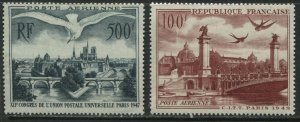 France 1947-48 Airmails mint o.g. hinged