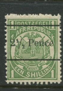 Transvaal - Scott 146 - Surcharge Issue -1893 -MNH -Single 2.1/2p on a 1/- Stamp