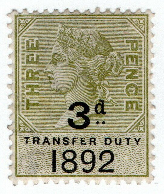 (I.B) QV Revenue : Transfer Duty 3d (1892)
