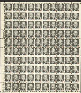 US #1394 Mint Sheet Eisenhower