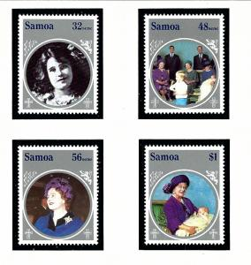 Samoa 649-52 MNH 1985 Queen Mother Birthday