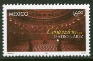 MEXICO 2337, JUAREZ THEATER CENTENNIAL. MINT, NH. VF.